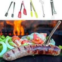 11styles 6/9/9.7″ Food Grade Plastic Tongs Stainless Steel Handle Bread Tongs BBQ Clip noodles clip Grip Cake Salad Kitchen Tool