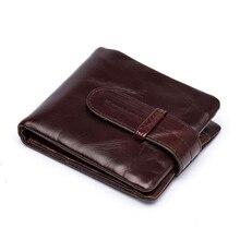 Top qualität Öl wachs leder dollar preis short brieftasche männer PORTFOLIO Business Vintage lässig Münze Tasche Männlichen Reißverschluss