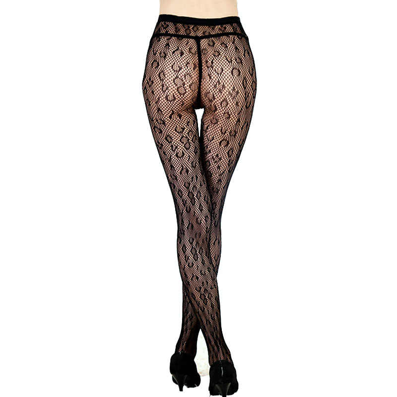 523b0dd26 ... LIMSISNIW Modern Leopard Patterned Woman Black Fishnet Tights Slim  Looking Ladies Sexy Dobby Mesh Pantihose with ...