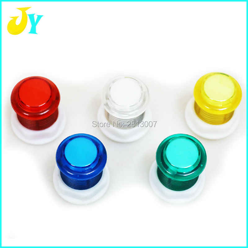 2pcs/lot 5V LED Light Buttons 24mm Arcade Button With Build-in Microswitch  For Raspberry PI 1 Retropie Project & Jamma DIY