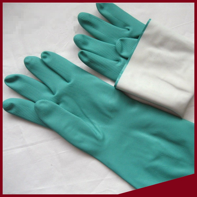 Oil resistant Acid Alkali Resistant Gloves Nitrile Industrial gloves 10 pairs pack acid and alkali extra strong medical black free nitrile disposable gloves electronics food medical laboratory