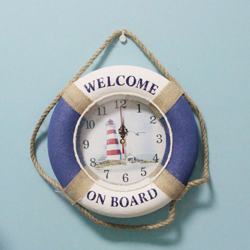 beach style nautical clock