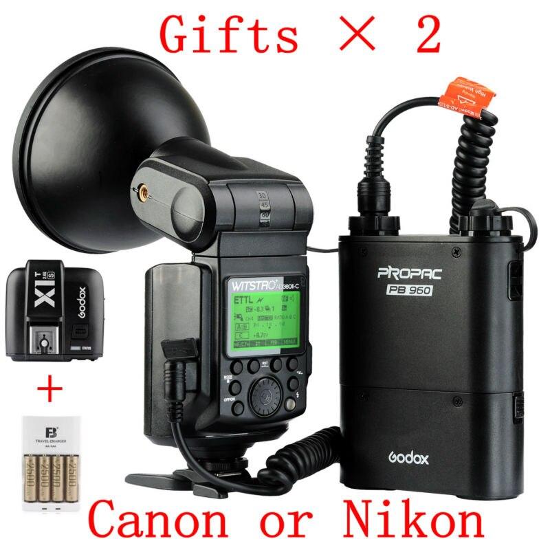 Новая вспышка GODOX WITSTRO ad360ii TTL X1 C/N уличная вспышка с беспроводным включателем набор черных блоков питания + PB960 для Canon