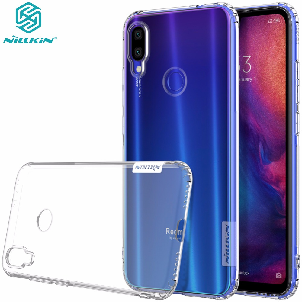 Väska till Xiaomi Redmi Note 7 8T Väska Redmi Note 7 Pro Skydd NILLKIN Nature TPU Transparent Clear Soft Cover Cover Case note 8 Pro