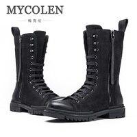 MYCOLEN Лидер продаж дизайнер Для мужчин зимние Армейские сапоги мужские зимние ботильоны теплые Водонепроницаемый тактические ботинки Для м
