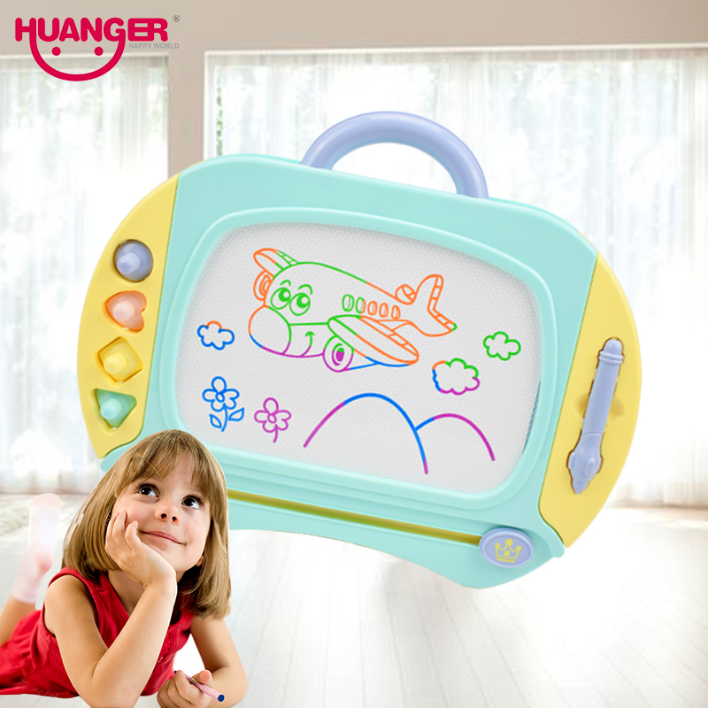 Huanger Magnetic Drawing Board Kids Painting Toys Child Preschool Educational&Learning Color Unisex Doodle Plastic ABS Gift