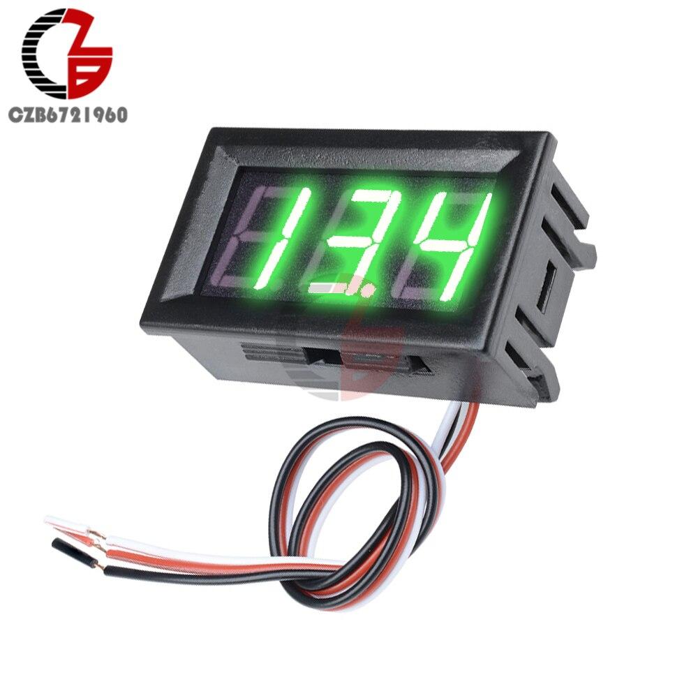 """HTB16VYQXUrrK1RkSne1q6ArVVXar 3 Wire 0.56"""" LED Digital Voltmeter Voltage Meter Car Motorcycle Volt Tester Detector DC 12V Capacity Monitor Red Green Blue"""
