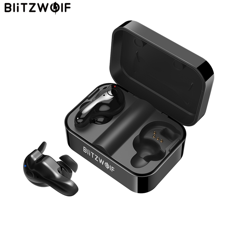 Blitzwolf BW-FYE1 Bluetooth V5.0 TWS Wahre Wireless Sport Kopfhörer TWS Ohrhörer Hallo-fi Stereo Dual Mikrofon w/Lade Box