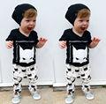 Toddler Kid Baby Boys Outfit Clothes Batman T-shirt Tops Pants Trousers 2PCS Set