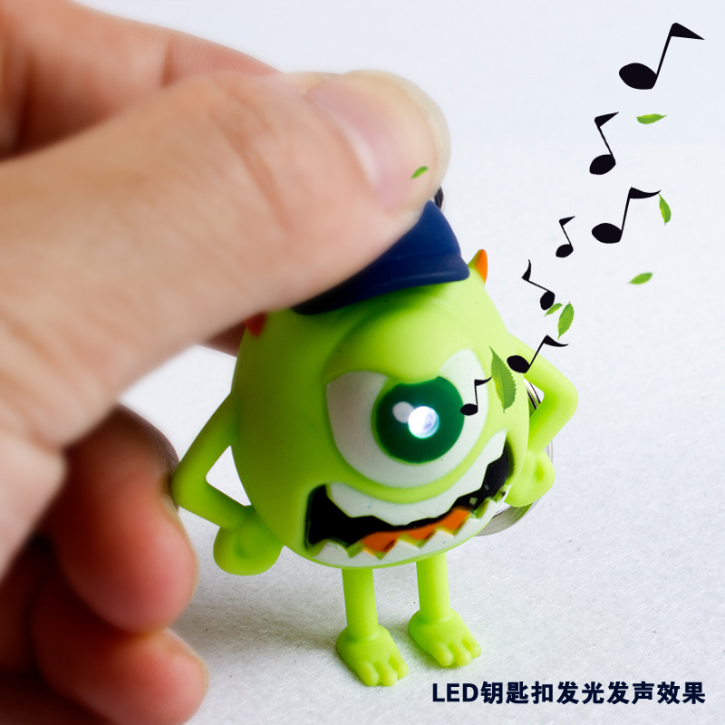 US $1 77 |1pcs Fashion Lovely Monsters University Figure Led Keychain Mike  Wazowski Big Eyes Figure Keyring Toy Gift For Children-in Key Chains from