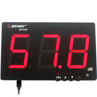 SNDWAY Digital Sound Level Meter 30~130db Large Screen Display Restaurant Bar Indoor/office/home Wall Hanging Noise Meter