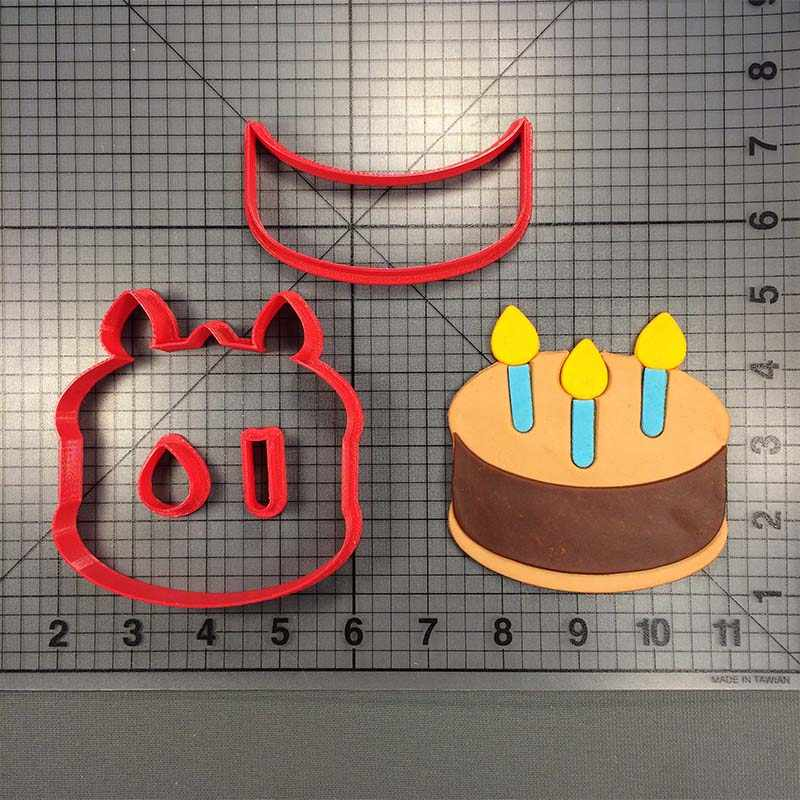 Happy Birthday Cake Cutter Custom Made 3D Printed Cookie Set Menorah Lighter Cutters Fondant Molds