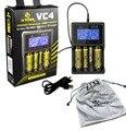 VC4 XTAR carregador Micro USB carregador de bateria Digital o melhor 18650 26650 10440 carregador carregador de bateria de lítio a autêntica