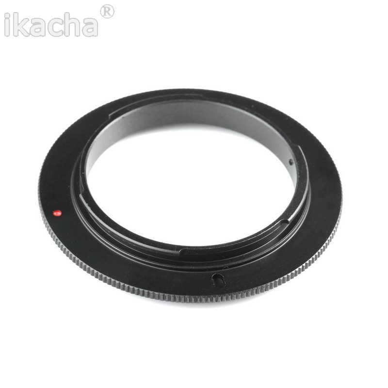 Kamera Makro Lens Ters Adaptör Halkası 49mm 52mm 55mm 58mm 62mm 67mm 72mm 77mm Filtre Konu Dağı canon lensi EOS Kamera