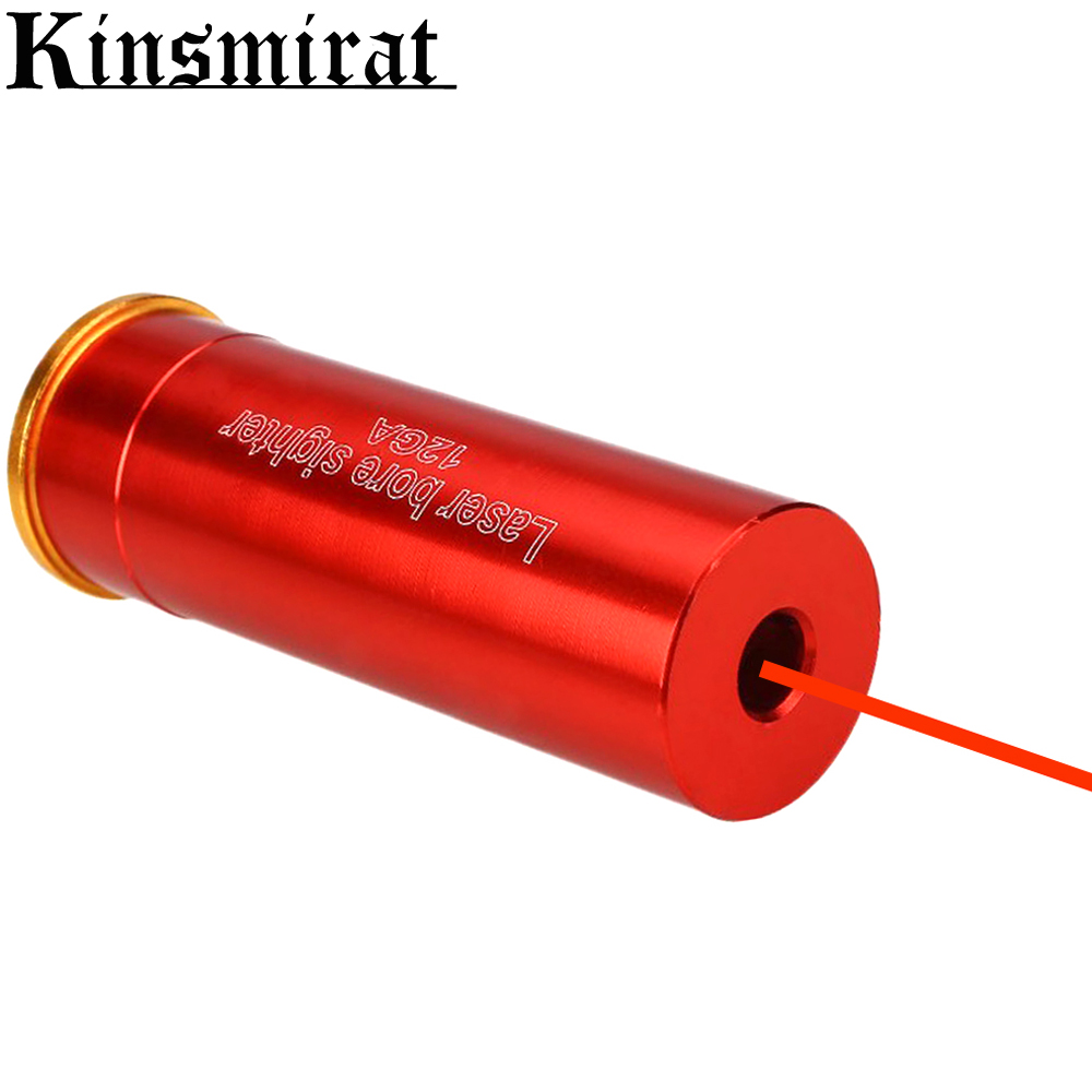 Laser Bore Sighter Boresighter 12 GA Cartridge Red Dot Sight Boresight Copper 12Gauge Shotgun For Hunting