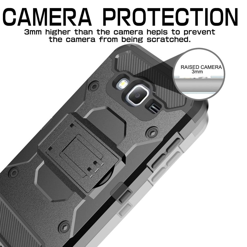 Heavy Duty Durable Armour Case Holster + Belt Clip Kickstand - Բջջային հեռախոսի պարագաներ և պահեստամասեր - Լուսանկար 4