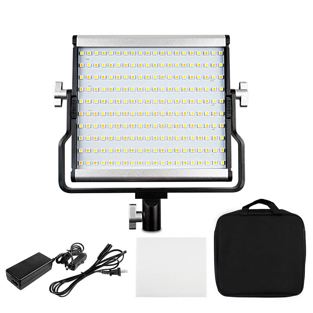 JinTu <font><b>L4500</b></font> 3200K-5600K Bi-color LED Camera Video Light Adjustable For Canon 650D 750D 760D 800D 77D 80D 7DII 6DII 5DIV Camera image