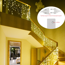 220V/110V Garden Xmas Wedding Party Lights 4.5m Droop 0.4-0.6m curtain icicle led string lights christmas outdoor decoration
