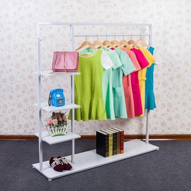 Planchar la ropa ropa estante de exhibición piso perchero colgador ...