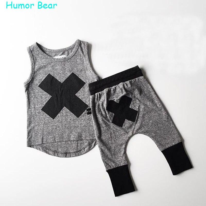 Humor Bear 2016 baby Boys girls clothes Casual font b Clothing b font Sets font b