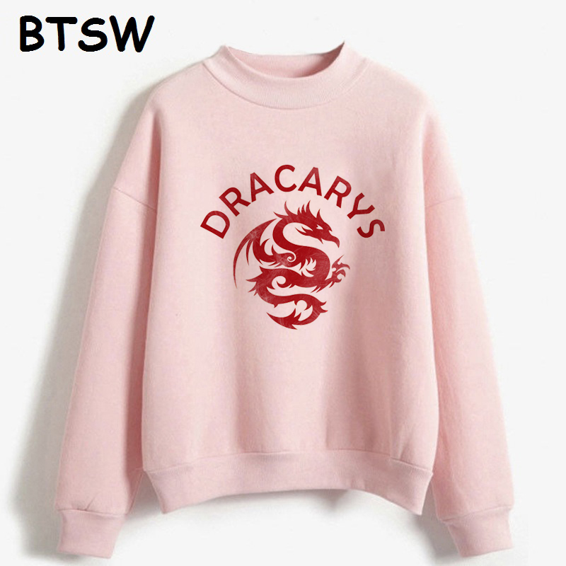 Women Clothes 2019 New Fashion Dracarys Dragon Vintage Graphic Hoddie Harajuku Sweatshirt Sudadera Mujer Sweat Femme
