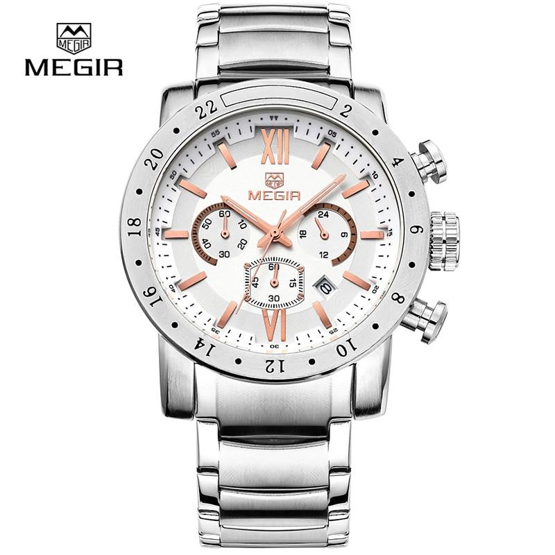 Megir fashion quartz watch for man waterproof luminous wrist watch mens large dial watches 3008 free shipping mne watch megir megir 6 24 relogio sl 3008
