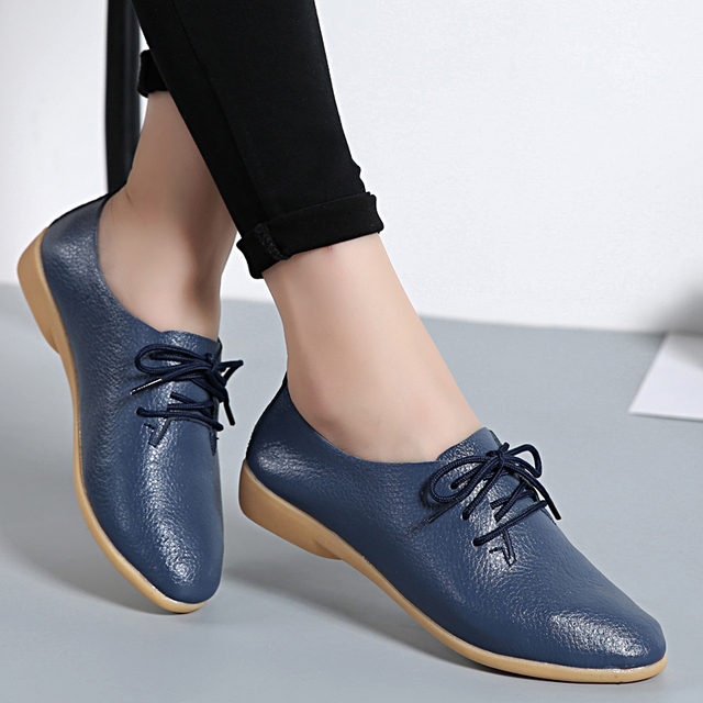 d401c1af5abd STAINLIZARD Women Flats Leather Summer Fashion Women Casual Comfortable  Shoes Solid Lace-Up Shoes Female Ladies Footwear HBT700