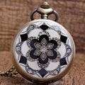 Jade blanco Cristal de Cuarzo Gran Reloj de Bolsillo Collar Colgante Para Hombre de la Cadena Regalo P51