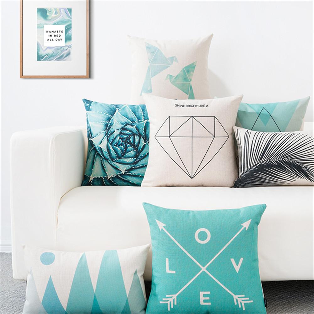 Nordic style throw pillow case geometric simple lumbar pillow cushion cover for living room sofa office chair cojines 45x45cm