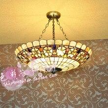 2G23D 30 СМ-60 СМ Европейский Сад спальня/гостиная/ден shell Тиффани Тиффани лампы освещения подвесные 23 Камелии бисер