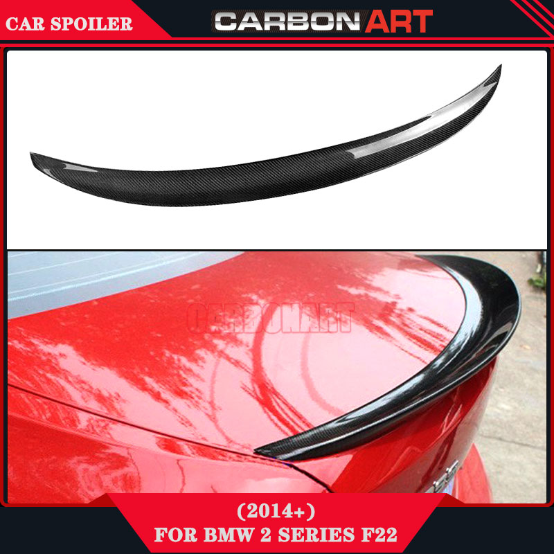 For bmw performance auto parts carbon fiber rear wing spoiler f22 lip spoiler 218i 220i 228i 235i M235i 220d 228d 235d 218d 2014 carbon fiber car rear bumper extension lip spoiler diffuser for bmw x6 e71 e72 2008 2014 xdrive 35i 50i black frp