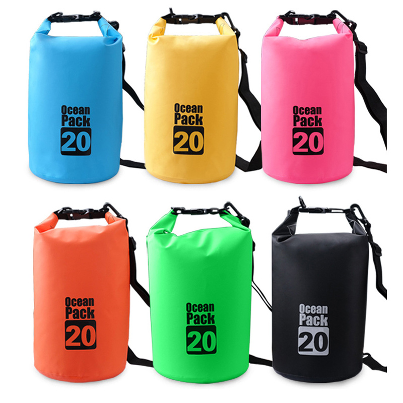 Fengtu 20L Dry Rafting <font><b>Bags</b></font> Camping Travel Outdoor Waterproof Water Pool <font><b>Bags</b></font> for Canoe Swimming