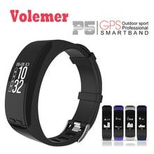 Volemer Новый P5 gps местоположение смарт-браслет сердечного ритма Monitores Smart Band высота барометр theromometer измерения спортивный браслет