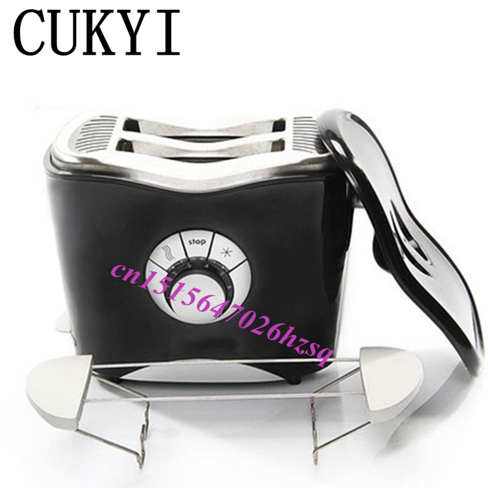CUKYI 2 slice toasted bread machine stainless steel household toaster 220V free shipping by dhl 1pc est 6 household automatic stainless steel of 6 slice toaster bread machine home appliance