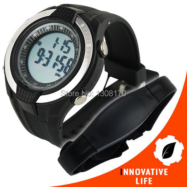 40~240bpm Heart Rate Monitor Pedometer step counter Fat Calories Count Exercises Sports HRM Watch Sleep Mode Indicator multifunction digital pulse rate calories counter wrist watch orange 1 x 2032