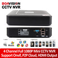 1080P Smart Mini 4CH NVR Support Realtime Video,Playback Network Video Recorder 1080P HDMI For CCTV IP Camera Onvif System