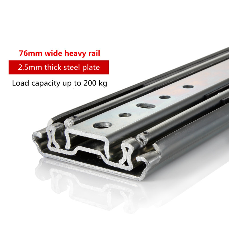 цена на 76mm wide heavy slide chute guide bearing cabinet drawer rail car an axle industry guide