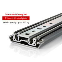 76mm wide heavy slide chute guide bearing cabinet drawer rail car an axle industry guide