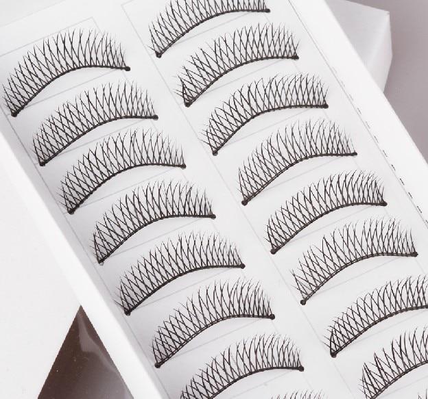 Crisscross Diy False Eyelashes Handmade Lashes Fashion Lady Balck Eyelash Artificial Eyewinker As Makeup Product. False Eyelashes Beauty Essentials
