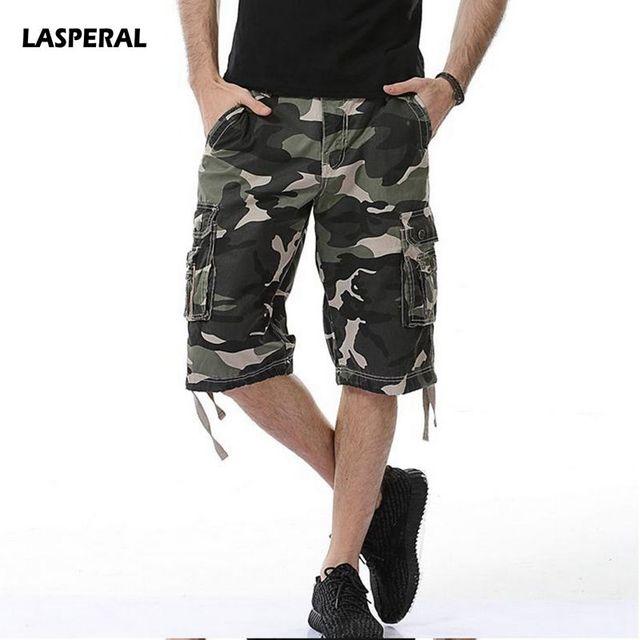 LASPERAL nuevos pantalones cortos de los hombres diseño camuflaje militar  ejército pantalones cortos casuales Homme 2018 7ecf59a261a