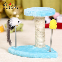 Elite Cat Tree Tower Natural Sisal Kitten Scratching Post With Ladder Funny Toys Soft Cat Climbing