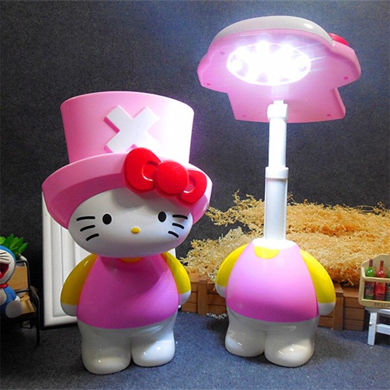 Roze Cartoon Nieuwjaar Kerst Meisje Gift LED Tafellamp Slaapkamer ...