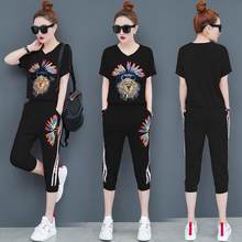 black tracksuits for women outfit sportswear co-ord set 2 piece sets 2019 top and pant suits summer plus size sets suit clothing black spaghetti sequins design co ord with choker