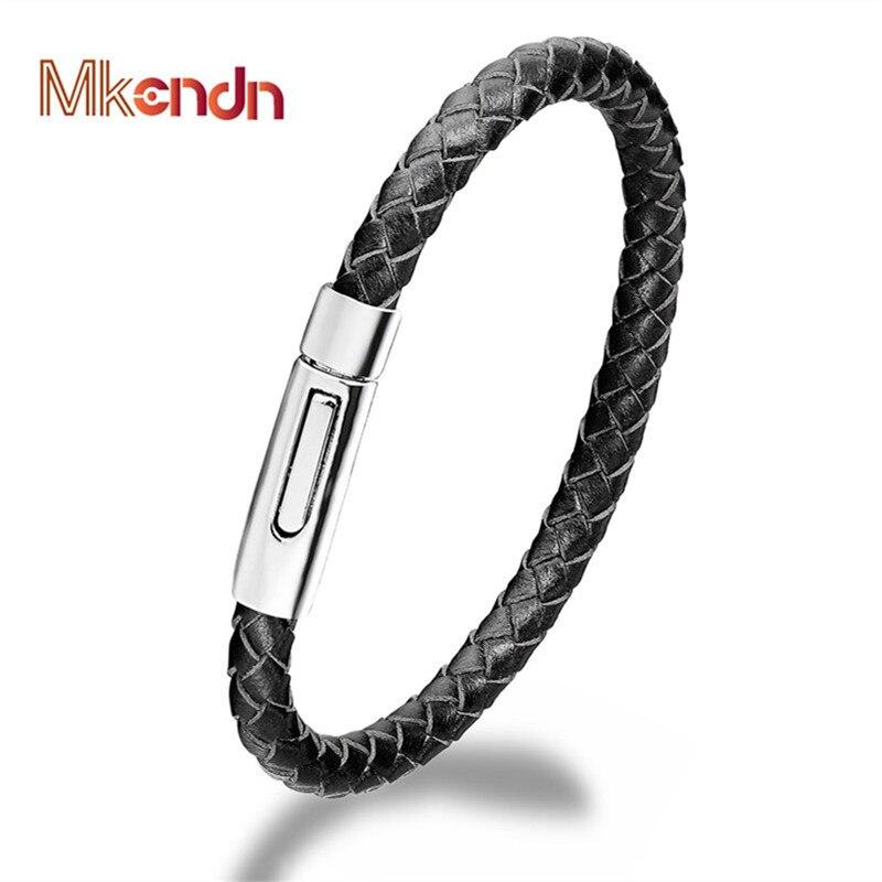 Genuine Braid Leather Rope Chain