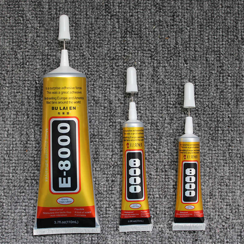 E8000 15ml Multipurpose Industrial Adhesive DIY Jewelry Craft Rhinestone Fix Phone Case Screen Glass Super Liquid Glue Nail Gel