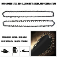 Newest Manganese Steel 3/8 2pcs 1.3mm 30cm 44 Nodes Drive Link Chainsaw Saw Mill Chain Replacement Chain Durable Chainsaw Parts