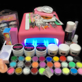 Burano 36W UV Dryer acrylic nail art set ,acrylic nail kit ,kit nail gel ,kit Gel nails set with lamp nail tools set 011