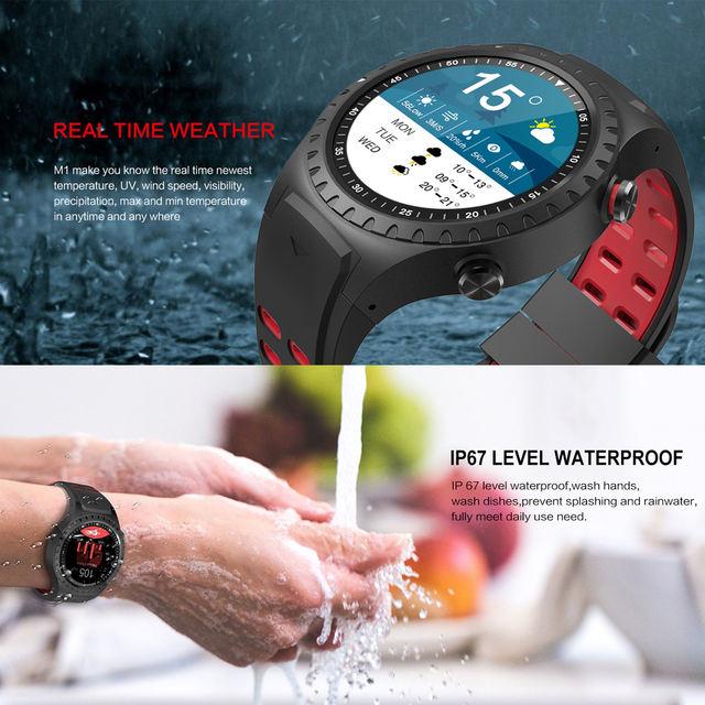 Northedge GPS Smart Watch Running Sport GPS Watch Bluetooth Phone Call Smartphone Waterproof Heart Rate Compass Altitude Clock