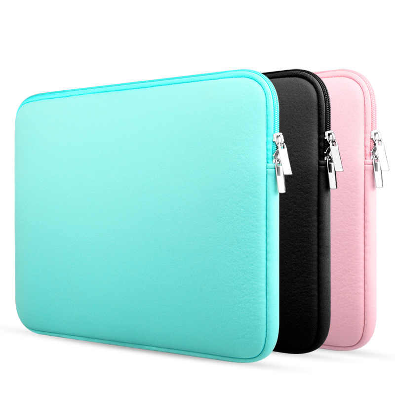 "Portable 11 ""12'' 13 ""14"" 15 ""15.6"" Soft Tas Laptop Sleeve Case Cover untuk dell Samsung Acer Surface Pro Ultrabook Notebook"