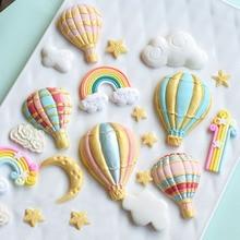 цена на 1 Pcs Balloon Rainbow Silicone Mold Cake Chocolate Fondant Sugar Craft Candy Clay Baking Tool Cake Decor DIY Craft